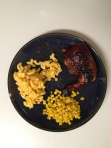 BBQ chicken mac and cheese sweet corn