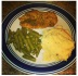 Mista Television baked chicken breast - mashed potatoes - garlic butter green beans